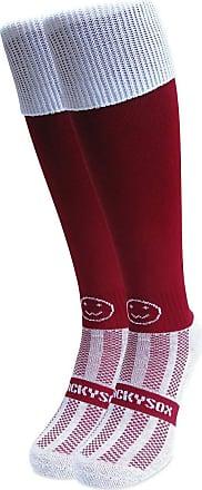 Wackysox Rugby Socks, Hockey Socks - Maroon with White Turnover Top