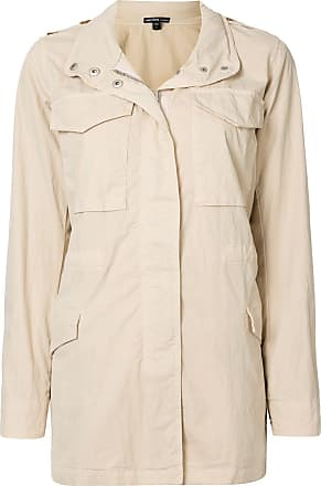 James Perse concealed hood field jacket - Neutrals