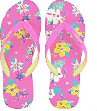 Urban Beach Ladies Bayfront Beach Pink Floral FLIP Flops Toe Post Sandals -UK 7 (EU 41)