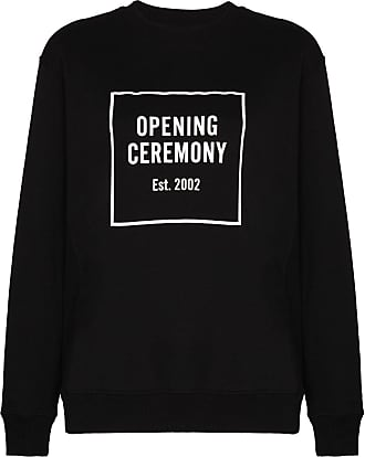 Opening Ceremony box logo print sweatshirt - Preto
