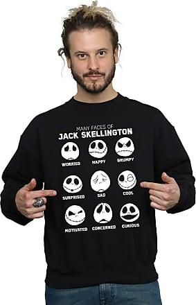 Disney Mens Nightmare Before Christmas The Many Faces of Jack Sweatshirt XXX-Large Black