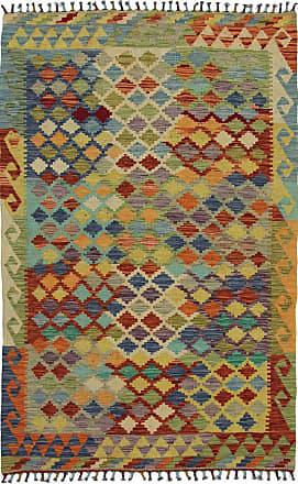 Nain Trading 186x121 Kilim Afghan Rug Brown/Rust (Afghanistan, Wool, Handwoven)