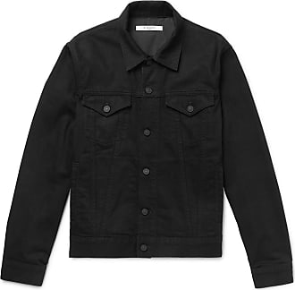 Givenchy Slim-fit Logo-embroidered Denim Jacket - Black