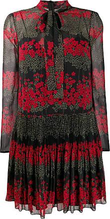 Red Valentino Vestido mini com estampa floral - Preto