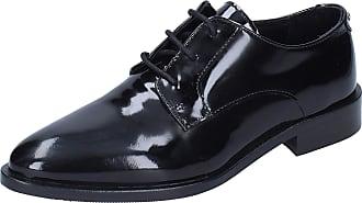 Liu Jo Women Leather Black Oxfords-Shoes 3.5 UK