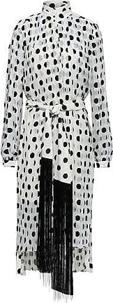 Zimmermann Zimmermann Woman Rife Tie-front Pleated Polka-dot Chiffon Midi Dress White Size 2