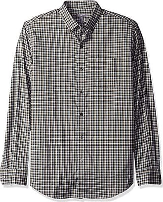 Van Heusen Mens Flex Long Sleeve Button Down Stretch Plaid Shirt, Grey Phantom Check, X-Large
