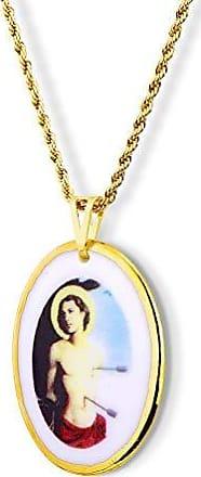 Design Medalhas Pingente Medalha São Sebastião ouro