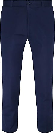 Relco Mens Sta-Press Mod Trousers Navy 38