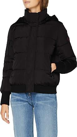 A X Armani Exchange Womens 3 Zip Pocket Coat Bomber Jacket, Black (Black 1200), Large