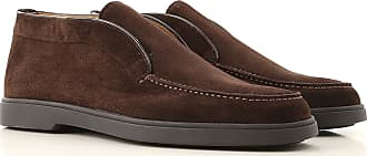 Santoni Polacchine Uomo On Sale, Marrone Scuro, Pelle Scamosciata, 2019, 39.5 44 44.5 45 47