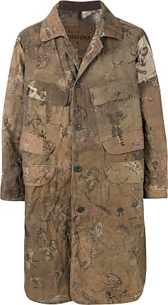 Ziggy Chen art print military coat - Green