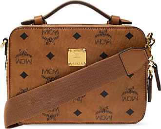MCM Shoulder Bag With Logo Womens Brown