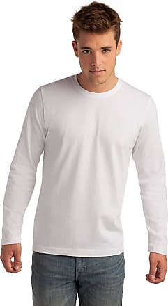 Hanes Long Sleeve Heavy T Shirt - 2 Colours White, Navy (White, XXL)