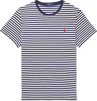 Polo Ralph Lauren Slim-fit Striped Cotton-jersey T-shirt - Blue