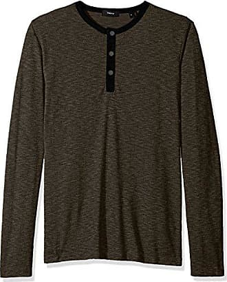 Theory Mens Front Snap Henley, Mantis Multi, XL