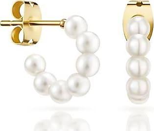 Misaki Boucles doreilles mini créoles Bliss de perles blanches