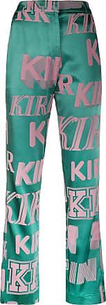 Kirin logo print trousers - Green