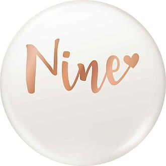 Flox Creative 45mm Pin Badge Rose Gold Nine
