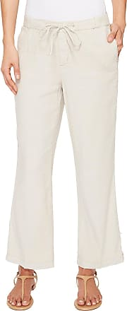 NYDJ Womens Jamie Relaxed Ankle Pants in Stretch Linen, Stone, 0