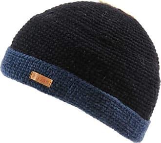 KuSan 100% Wool Knitted Turn-Up Beanie (PK839) (Blue)