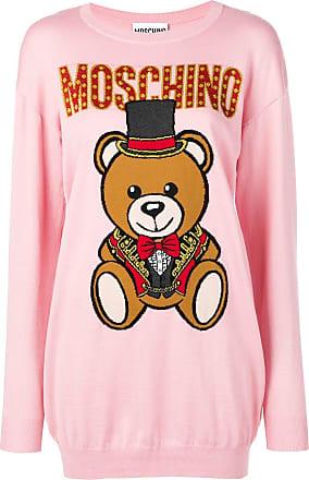 Moschino knitted bear sweater dress - Pink