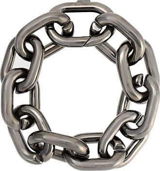 Jack Vartanian Pulseira Chain G prata com ródio negro - Prateado