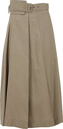 Fabiana Filippi Womens Linen Skirt MOD. GND270W592 Beige Size: 8 UK
