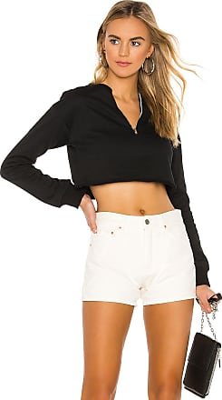 Superdown Trixie Cropped Sweatshirt in Black