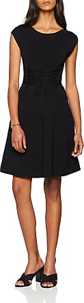 French Connection Womens Katie Crepe Knits LACE UP DRSS Dress, Black, (Size:-12-)