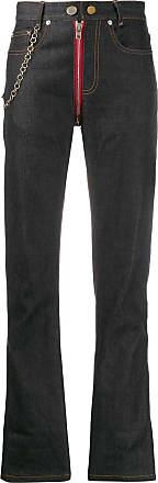 Zilver zip crotch denim jeans - Blue
