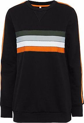 No Ka'Oi No Ka oi Woman Noelani Striped Cotton-blend Jersey Sweatshirt Black Size 00