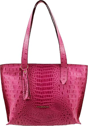 Arzon Bolsa Feminina de Couro Pink - Pink