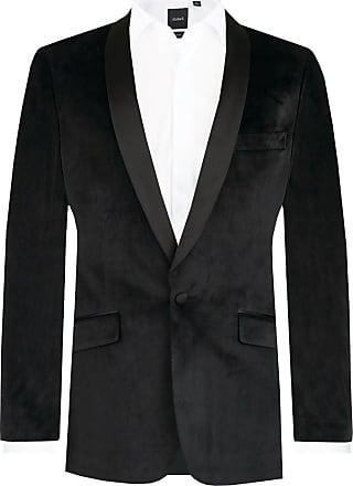 Dobell Mens Black Velvet Jacket Slim Fit Shawl Lapel-42R