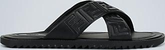Fendi Embossed leather sandals