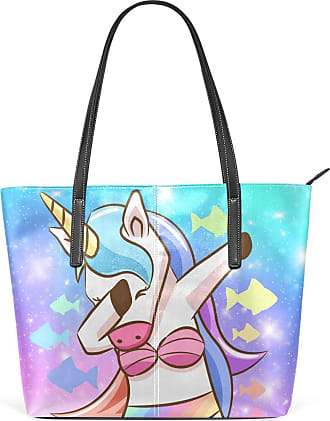 NaiiaN Tote Bag Handbags Leather Unicorn Princess Galaxy Large Purse Shopping Light Weight Strap Shoulder Bags for Women Girls Ladies Student