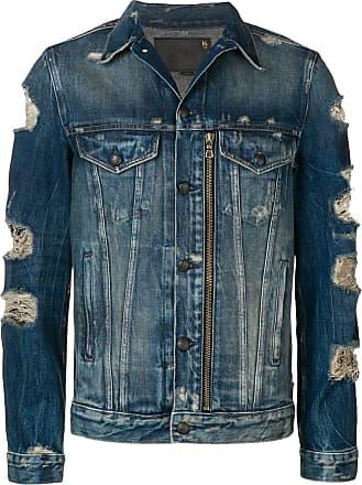 R13 ripped details denim jacket - Blue