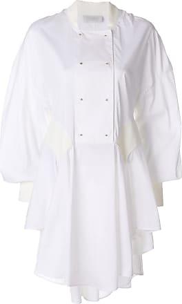 Esteban Cortazar Vestido mangas longas - Branco