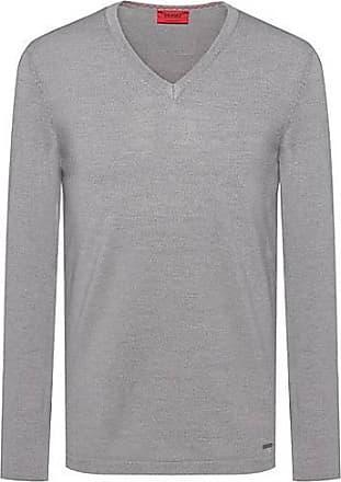 73c4c382d7b02d HUGO BOSS Slim-fit V-neck sweater in Merino wool