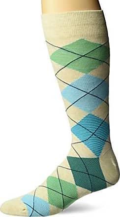 Hot Sox Mens Novelty Geometric Pattern Crew Socks, argyle (green/Blue), Shoe Size: 6-12