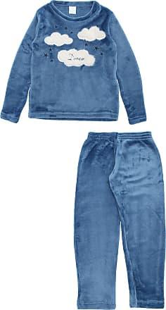 Pzama Pijama Pzama Longo Menina Outras Azul
