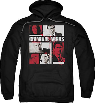 Popfunk Criminal Minds Character Boxes Unisex Adult Pull-Over Hoodie for Men and Women Black