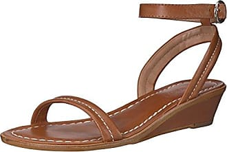 Bernardo Womens Catherine Wedge Sandal, Luggage Antique Calf, 7.5M M US