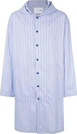 Yoshiokubo printed shirt coat - Blue