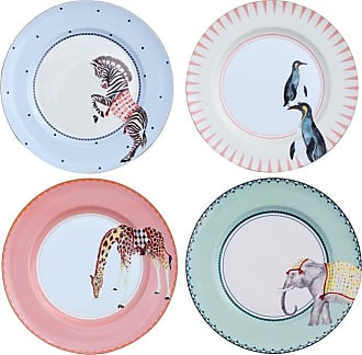 Yvonne Ellen Carnival Animal Dinner Plates - Set of 4
