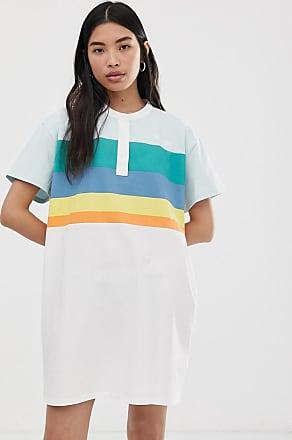 Wrangler Vestito stile polo con righe-Bianco