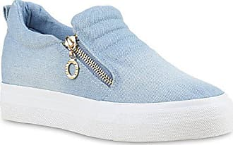 0d6f751cc8544d Stiefelparadies Damen Sneaker Wedges Sneakers Slip-Ons Wildleder-Optik Damen  Keilabsatz Plateau Schuh Schuhe