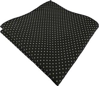 Designer Seidenfliege Einstecktuch in Seide schwarz silber gepunktet Fliege
