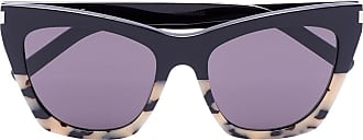 Saint Laurent Eyewear Óculos de sol gatinho Havana - Preto
