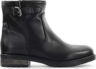 Zoe Fashion Woman STRONG096 Black Leather Ankle Boots | Season Outlet